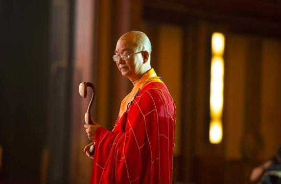 第四屆世界佛教論壇上的學誠大和尚(圖:龍泉視界)