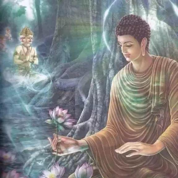 佛陀的拈花微笑与摩诃迦叶图片
